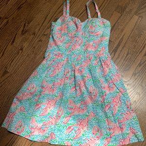"Lilly Pulitzer ""lobstah roll"" dress"